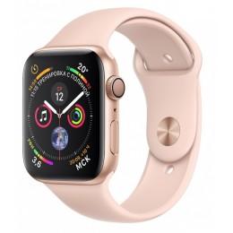 Умные часы Apple Watch Series 4, 44 мм, корпус из золотистого алюминия, спортивный ремешок цвета «розовый песок»