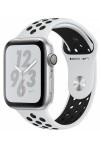 Умные часы Apple Watch Nike+ Series 5, 40 мм, корпус из серебристого алюминия, спортивный ремешок Nike цвета чистая платина/черный
