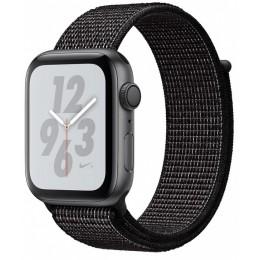 Умные часы Apple Watch Nike+ Series 4 44 мм, корпус из алюминия цвета серый космос, спортивный браслет Nike черного цвета