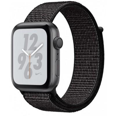 Умные часы Apple Watch Nike+ Series 5 44 мм, корпус из алюминия цвета серый космос, спортивный браслет Nike черного цвета