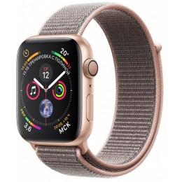 Умные часы Apple Watch Series 4, 44 мм, корпус из золотистого алюминия, спортивный браслет цвета «розовый песок» (золотистый)