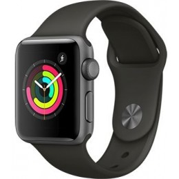 Space Gray Aluminum Case with Gray Sport Band 38mm