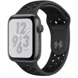 Умные часы Apple Watch Nike+ Series 4, 44 мм, корпус из алюминия цвета «серый космос», спортивный ремешок Nike цвета антрацитовый/черный