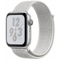 Умные часы Apple Watch Nike+ Series 4 44 мм, корпус из серебристого алюминия, спортивный ремешок Nike цвета «снежная вершина»