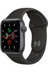 Умные часы Apple Watch Series 5, 44 мм, корпус из алюминия цвета «серый космос», спортивный ремешок черного цвета
